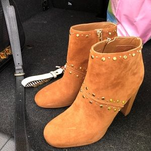 Chandler Saddle Suede Booties